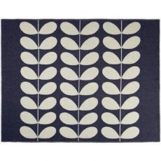 Orla Kiely Navy Giant Stem Reversible Throw