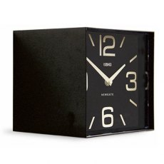 Black Cubic Mantle Clock