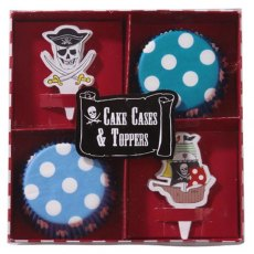 Pirate Party Cake Cases & Toppers