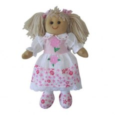 Medium Rag Doll Pink Flower 19cm
