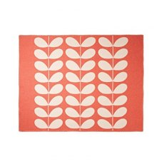 Orla Kiely Apricot Giant Stem Reversible Throw