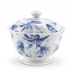 Botanic Blue Covered Sugar Bowl