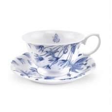 Botanic Blue Tea Cup and Saucer