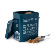 Bird Feed Tin - Petrol Blue