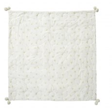 Petit Pehr Baby Chick Quilted Pom Pom Blanket