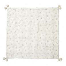 Petit Pehr Little Lamb Quilted Pom Pom Blanket