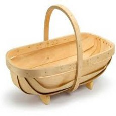 Natural Wooden Trug Large