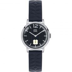 Orla Kiely Frankie Navy Leather Strap Watch
