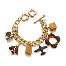 Orla Kiely Bee And Plane Charm Bracelet