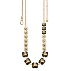 Orla Kiely Daisy Chain Long Black Flower Necklace