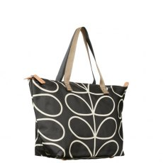 Orla Kiely Giant Liquorice Linear Stem Zip Shopper