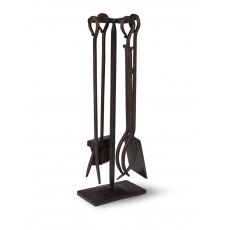Wrought Iron Fireside Tools Set Of 4