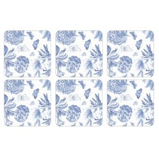 Pimpernel Botanic Blue Coasters Set of 6