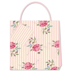 Emma Bridgewater Rose & Bee Stripe Medium Gift Bag