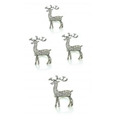 8cm Set/4 Reindeer Napkin Ring
