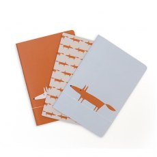 Mr Fox set of 3 Notebooks