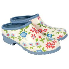 Laura Ashley Pattern Garden Clogs Size 4