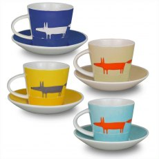 Mr Fox Espresso Cups and Saucer set