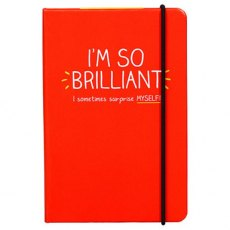'I'm So Brilliant' A6 Notebook