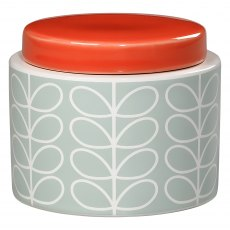 Orla Kiely Blue Linear Stem Small Storage Jar