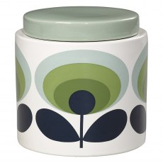 Orla Kiely 70's Oval Green Storage Jar