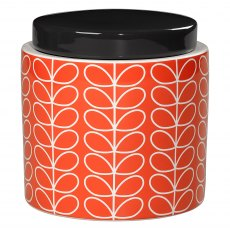 Orla Kiely Persimmon Linear Stem Storage Jar