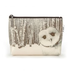Catseye Owl in Woods Make-Up Bag