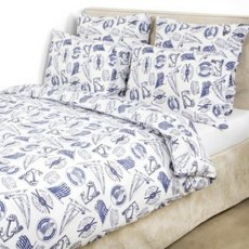 Lexington Seaside Collection Navy Blue Single Bedding Set