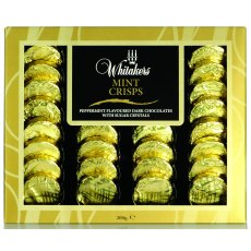 Whitakers Foiled Dark Chocolate Mint Crisps