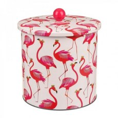Sara Miller Flamingo Biscuit Barrel