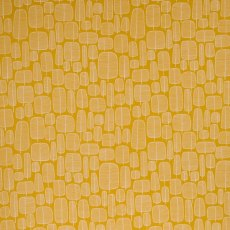 MissPrint Fabric Little Trees Yellow