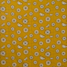 MissPrint Fabric Dandelion Sunflower Yellow