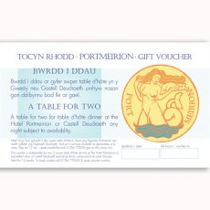 A Meal For 2 Portmeirion Gift Voucher