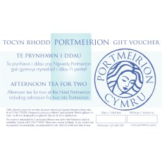 Afternoon Tea For 2 Including Free Entry Portmeirion Gift Voucher