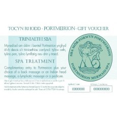 Spa Treatment Voucher/Triniaeth Sba