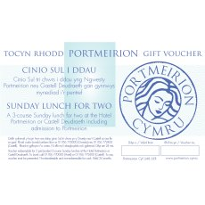 Cinio Gwesty/Teras - Hotel/Terrace Lunch Including Free Entry Portmeirion Gift Voucher
