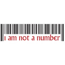 Prisoner Car Sticker I am Not a Number