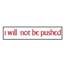 The Prisoner Car Sticker I Will Not Be Pushed