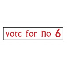 The Prisoner Car Sticker Vote For N6