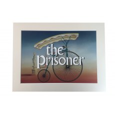 The Prisoner Pennyfarthing Mounted Print