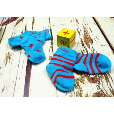 Blade & Rose Atoll Blue & Red Socks 6-12 Months
