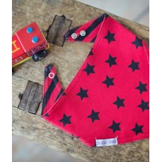 Blade & Rose Red & Black Bandana Bib
