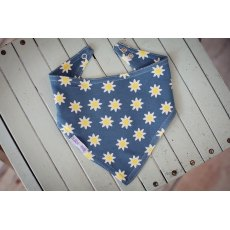Daisy Blue Dribble Bib