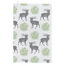 Thornback & Peel Stag & Mistletoe Tea Towel