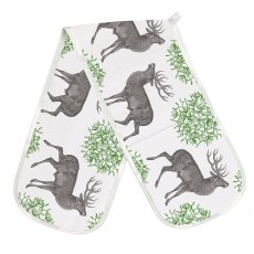 Thornback & Peel Stag & Mistletoe Double Oven Gloves