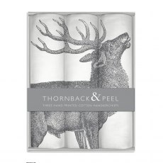 Thornback & Peel Stag Handkerchief Box Set