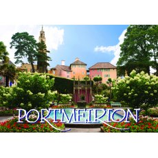 Portmeirion Village Fridge Magnet Piazza View