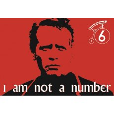 The Prisoner I Am Not A Number Magnet - Red