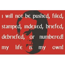 The Prisoner I Will Not Be Pushed Fridge Magnet