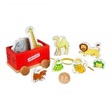 Dear Zoo Wooden Skittles and Pull-Along Game